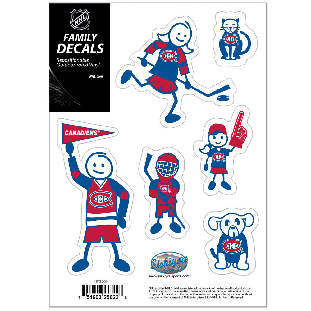 CANADIENS FAM DECAL SM