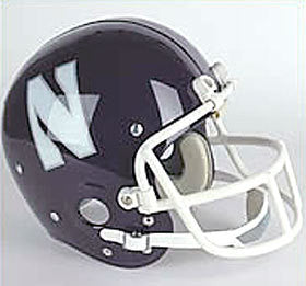 Northwestern Wildcats 1981-92 Authentic Vintage Full Size Helmet