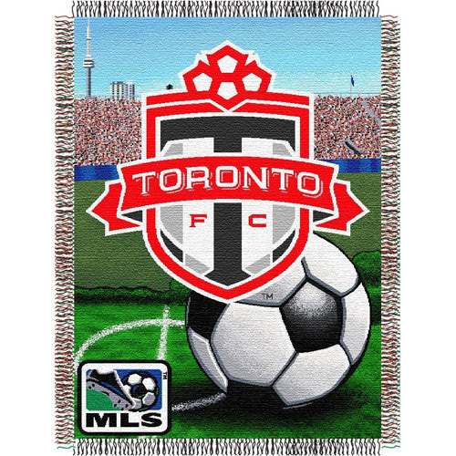 Toronto FC MLS Woven Tapestry Throw (Home Field Advantage) (48x60)