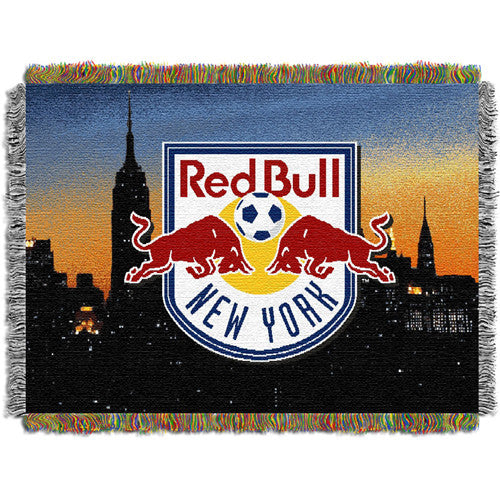 New York Red Bulls MLS Woven Tapestry Throw (48x60)
