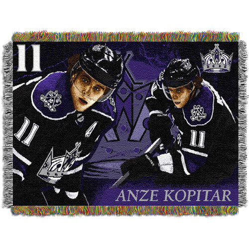Anze Kopitar - Los Angeles Kings NHL Woven Tapestry Throw (48x60)