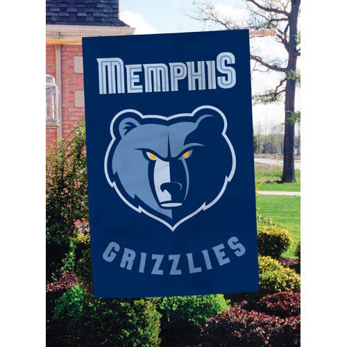 Memphis Grizzlies NBA Applique Banner Flag (44x28)
