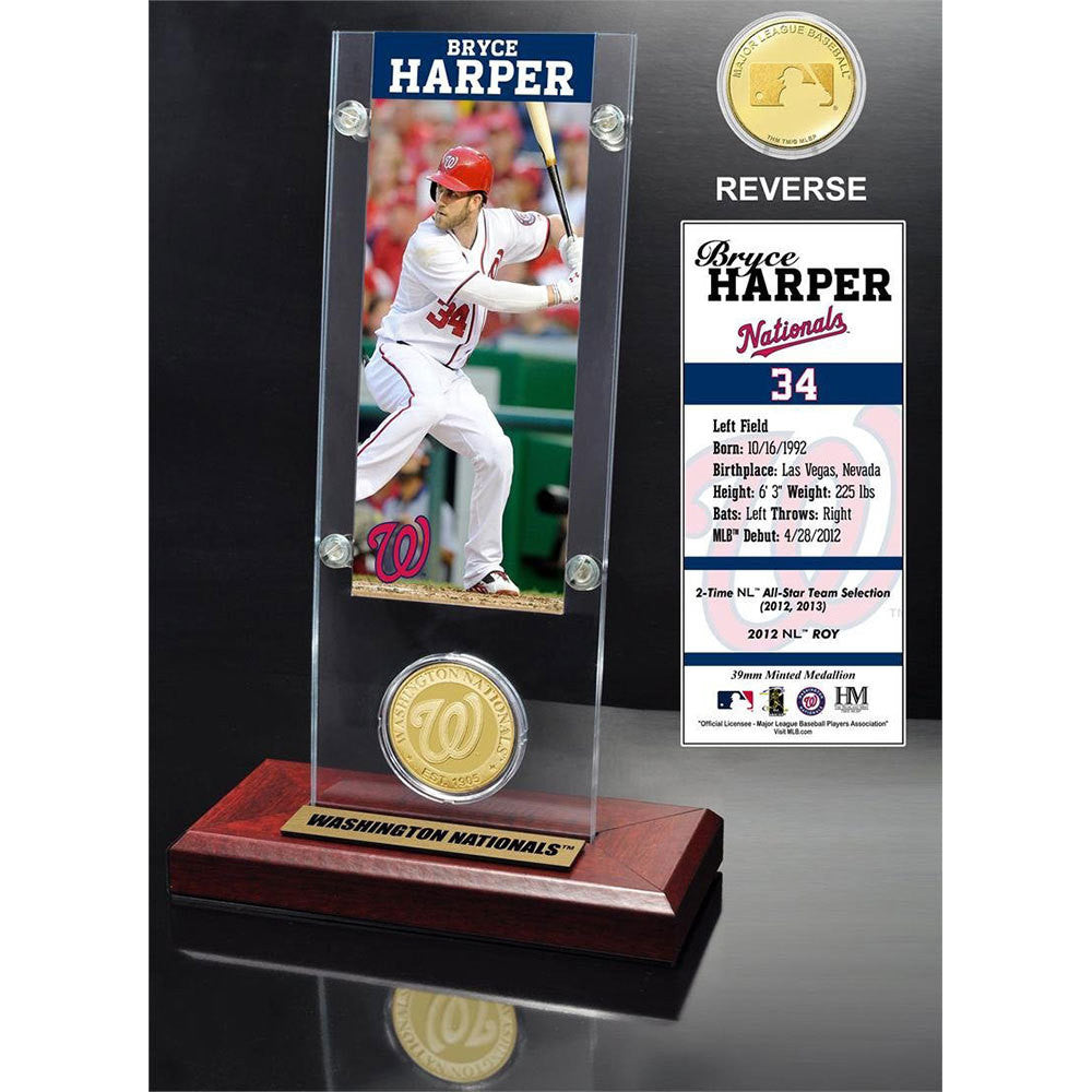 Bryce Harper Ticket & Bronze Coin Desk Top Acrylic