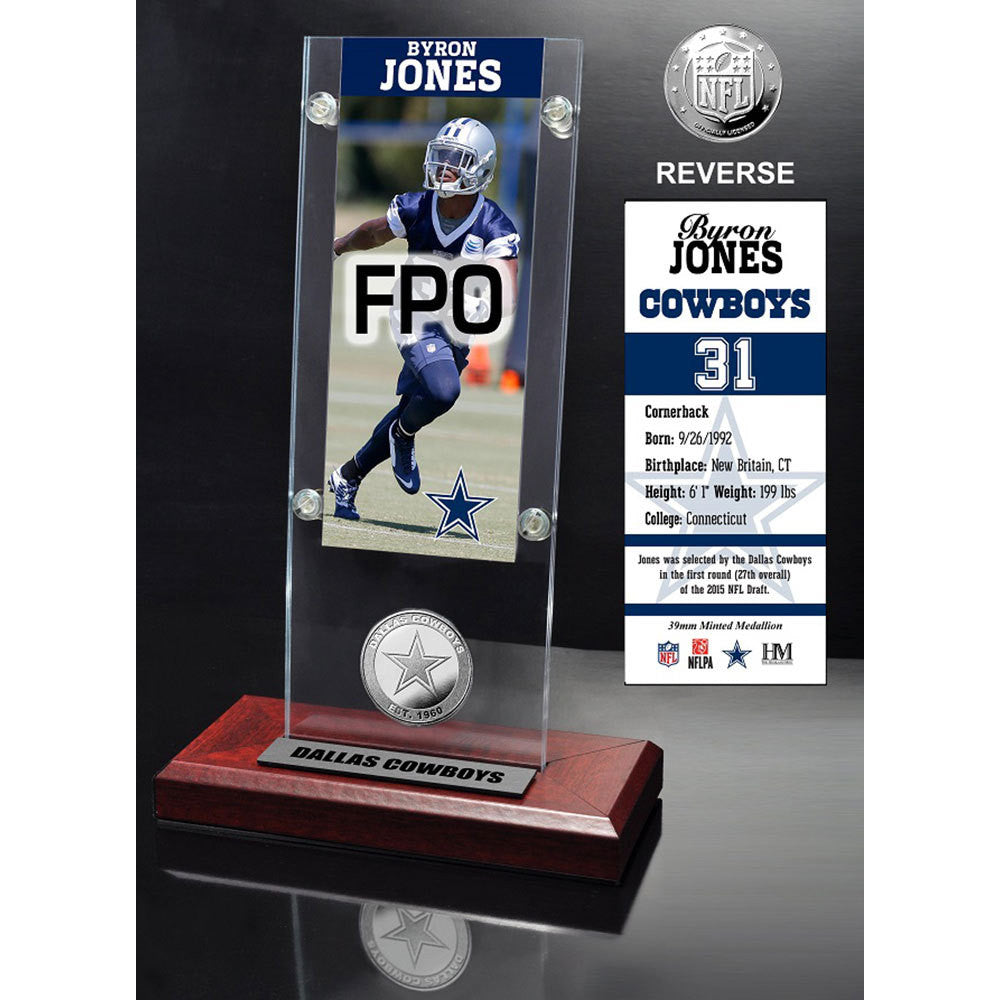 Byron Jones Ticket & Minted Coin Acrylic Desk Top