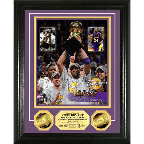 Kobe Bryant ?Trophy? 24KT Gold Coin Photo Mint