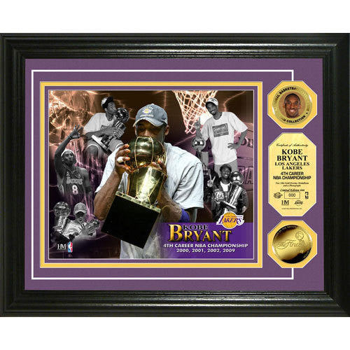 Kobe Bryant ?4 Time Champ? 24KT Gold Coin Photo Mint