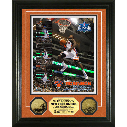 Nate Robinson 3x Slam Dunk Contest Champ 24 KT Gold Coin Photo Mint