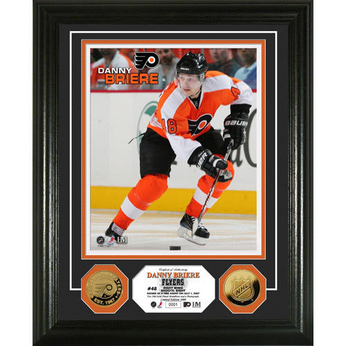 Danny Briere 24KT Gold Coin Photo Mint