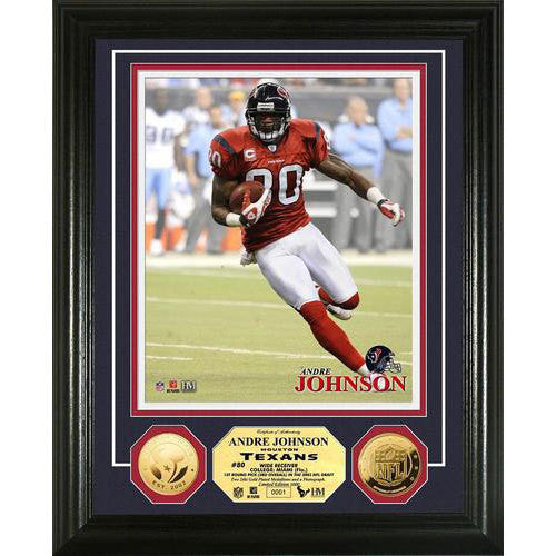 Andre Johnson 24KT Gold Coin Photo Mint