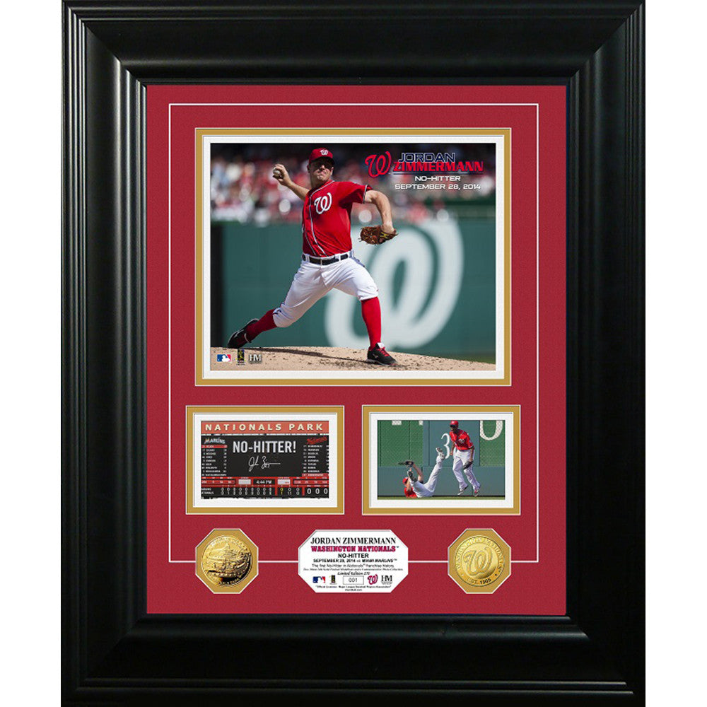 Jordan Zimmerman inNo-Hitterin Marquee Gold Coin Photo Mint