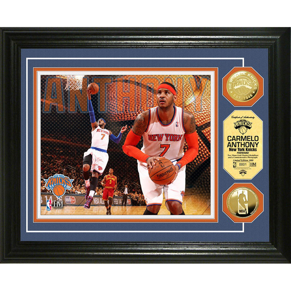 Carmelo Anthony Gold Coin Photo Mint