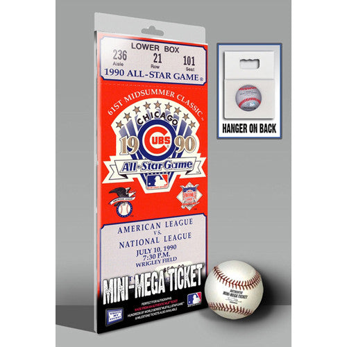 1990 MLB All-Star Game Mini-Mega Ticket - Chicago Cubs
