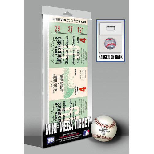 1959 World Series Mini-Mega Ticket - Los Angeles Dodgers