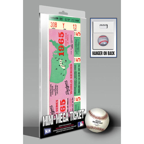 1965 World Series Mini-Mega Ticket - Los Angeles Dodgers