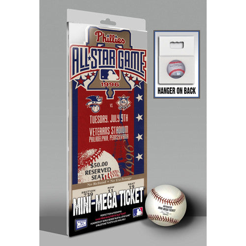 1996 MLB All-Star Game Mini-Mega Ticket - Philadelphia Phillies