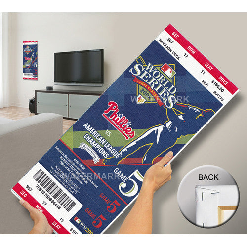 2008 World Series Mega Ticket - Philadelphia Phillies