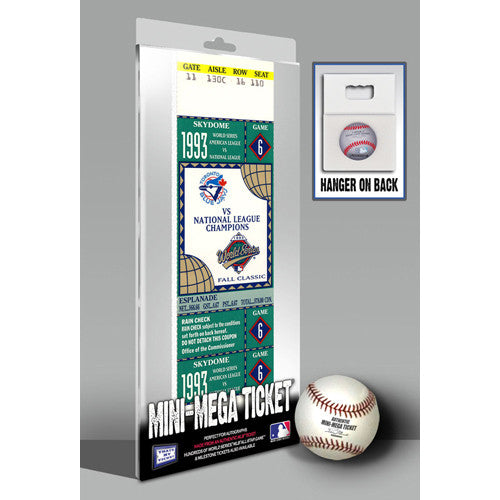 1993 World Series Mini-Mega Ticket - Toronto Blue Jays