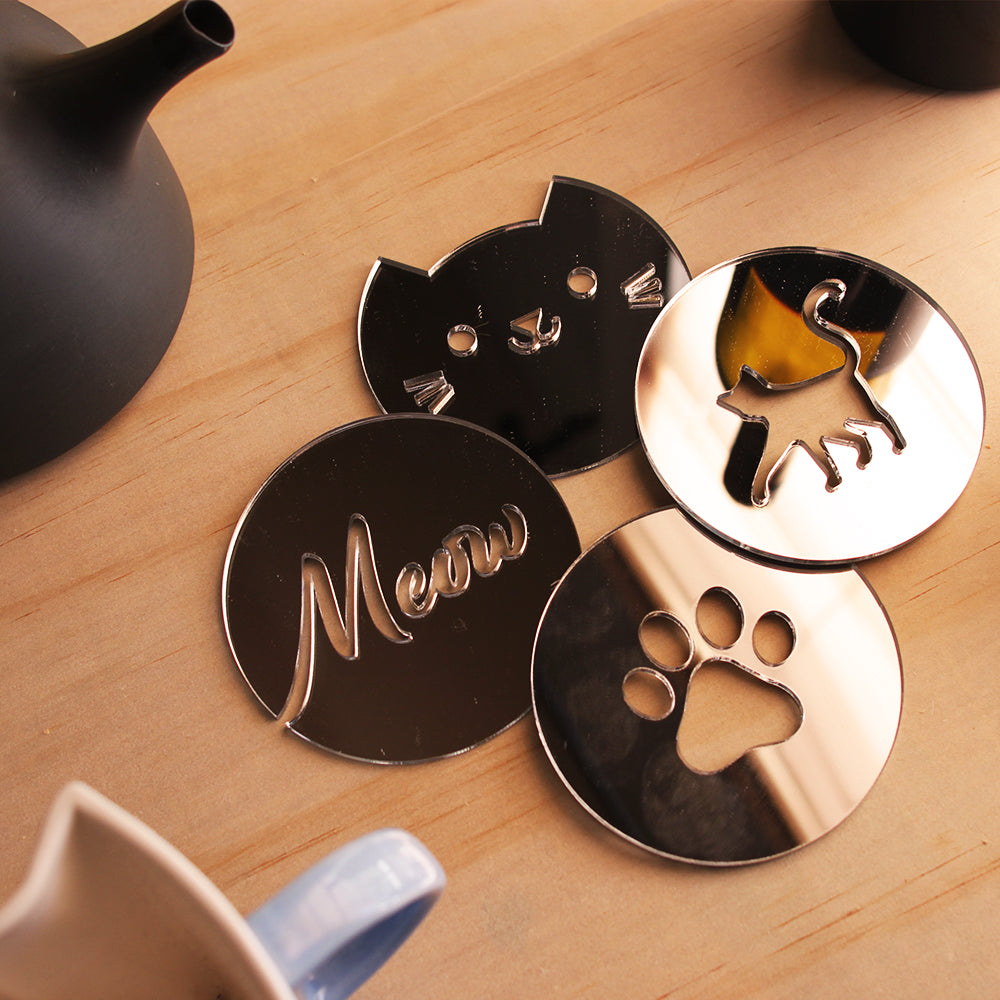 Cat Coaster Set