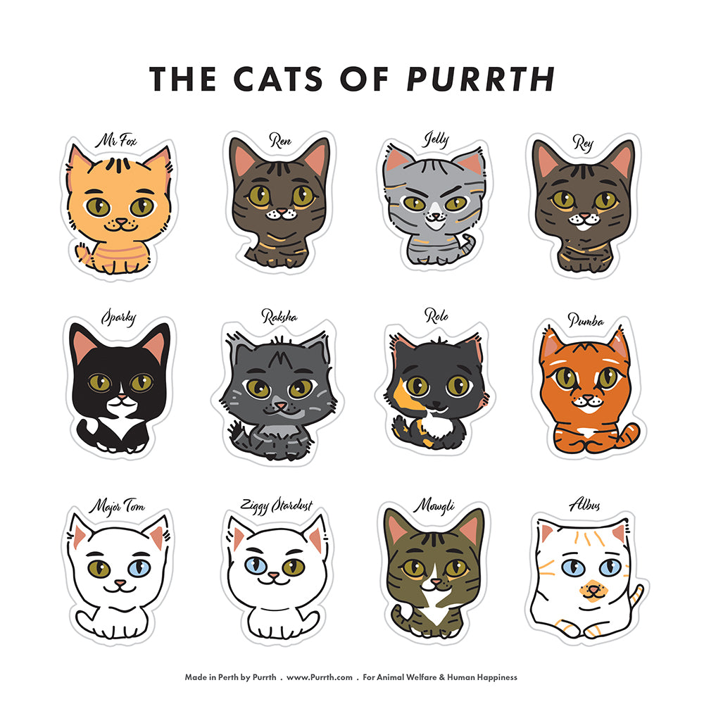 Cats of Purrth Sticker Set