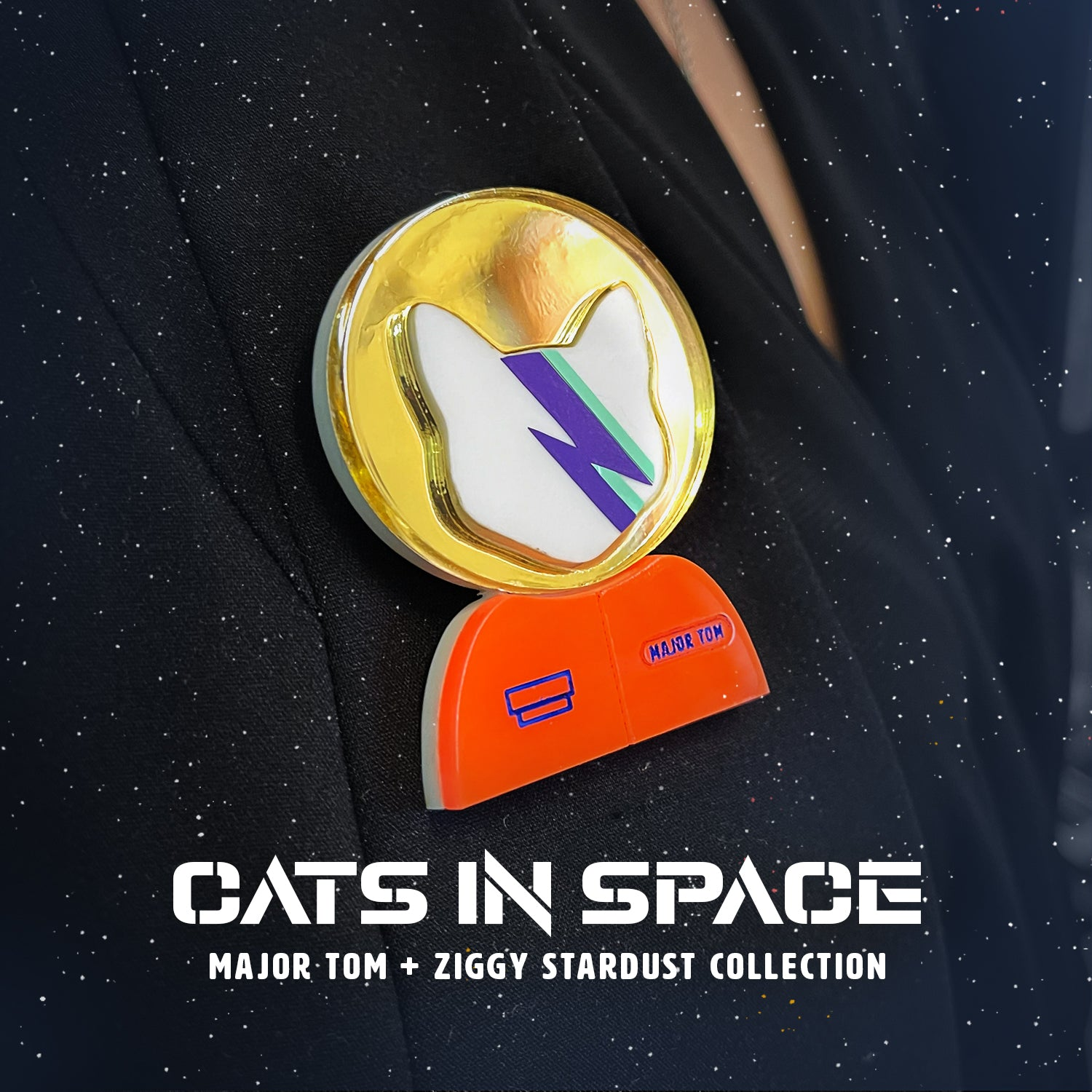 Cats in Space Glitter