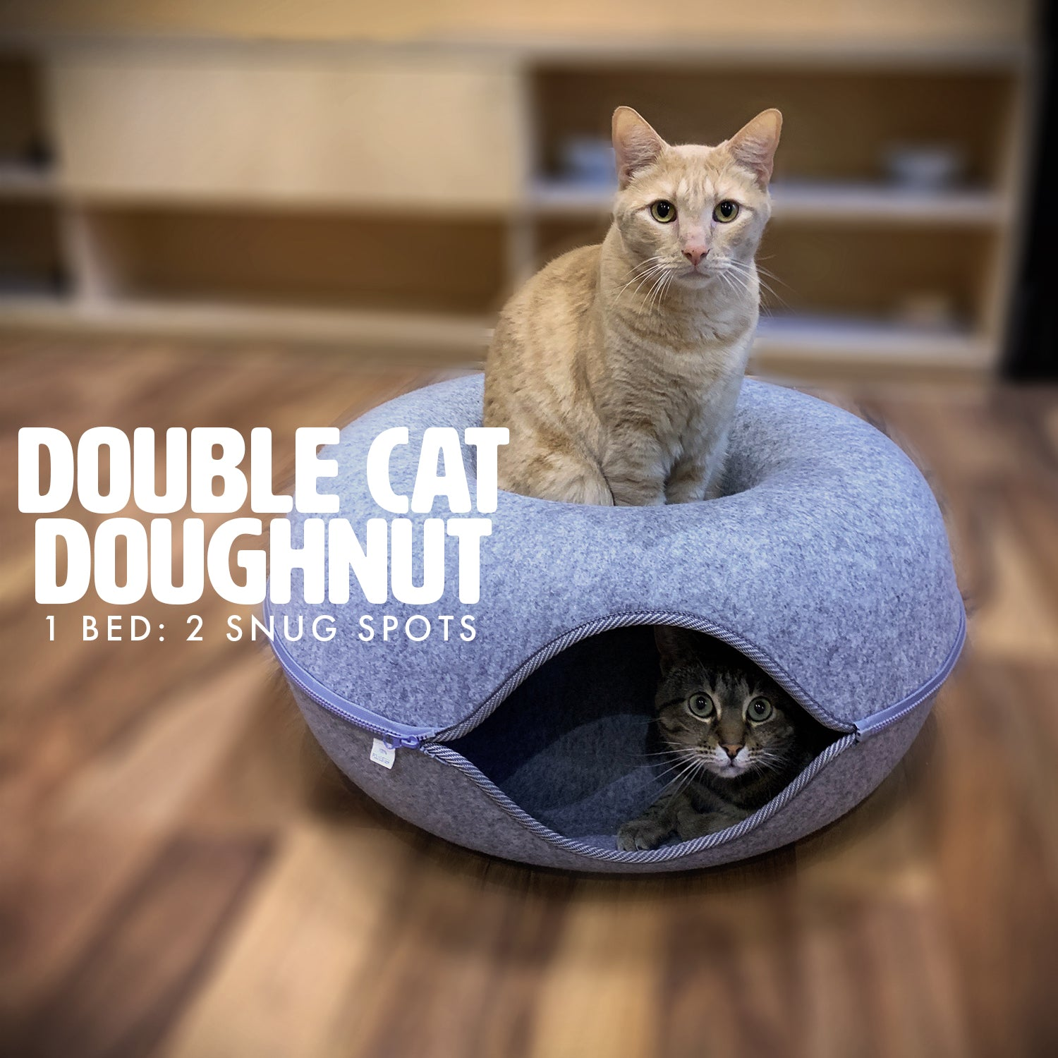 Double Cat Doughnut Bed