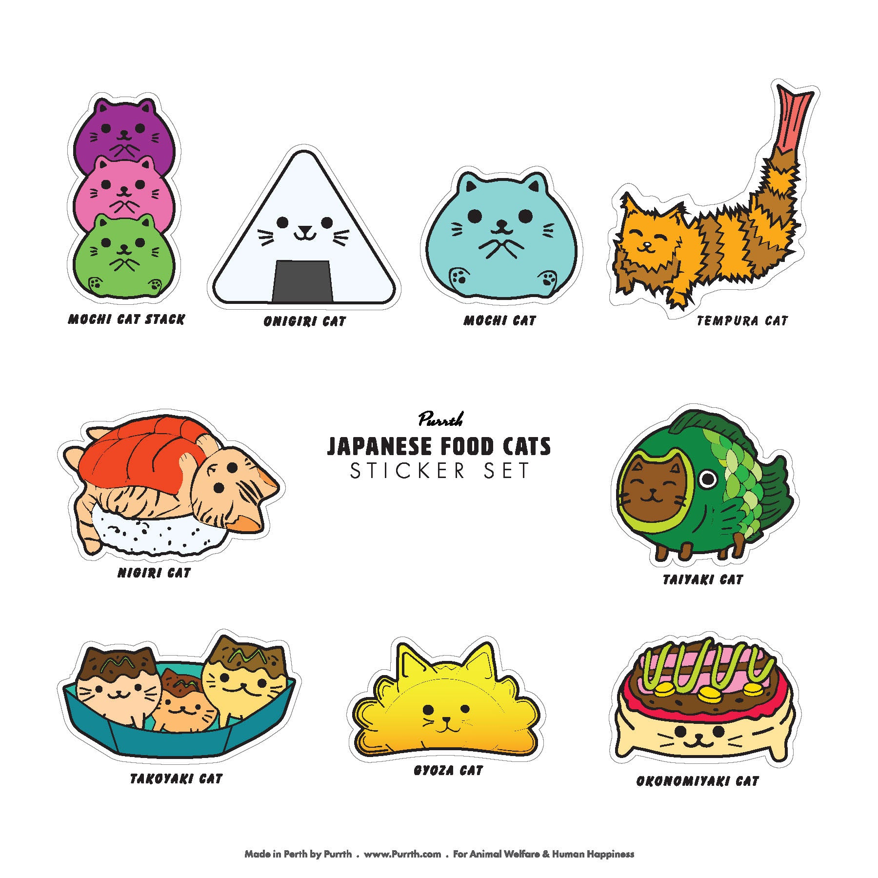 Purrth Cat Sticker Sets