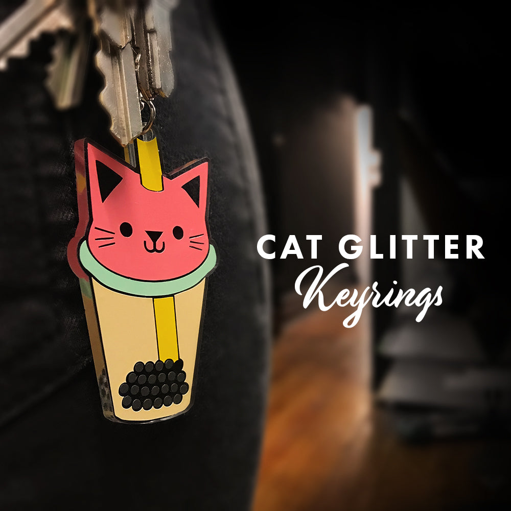 Cat Glitter - Keyrings