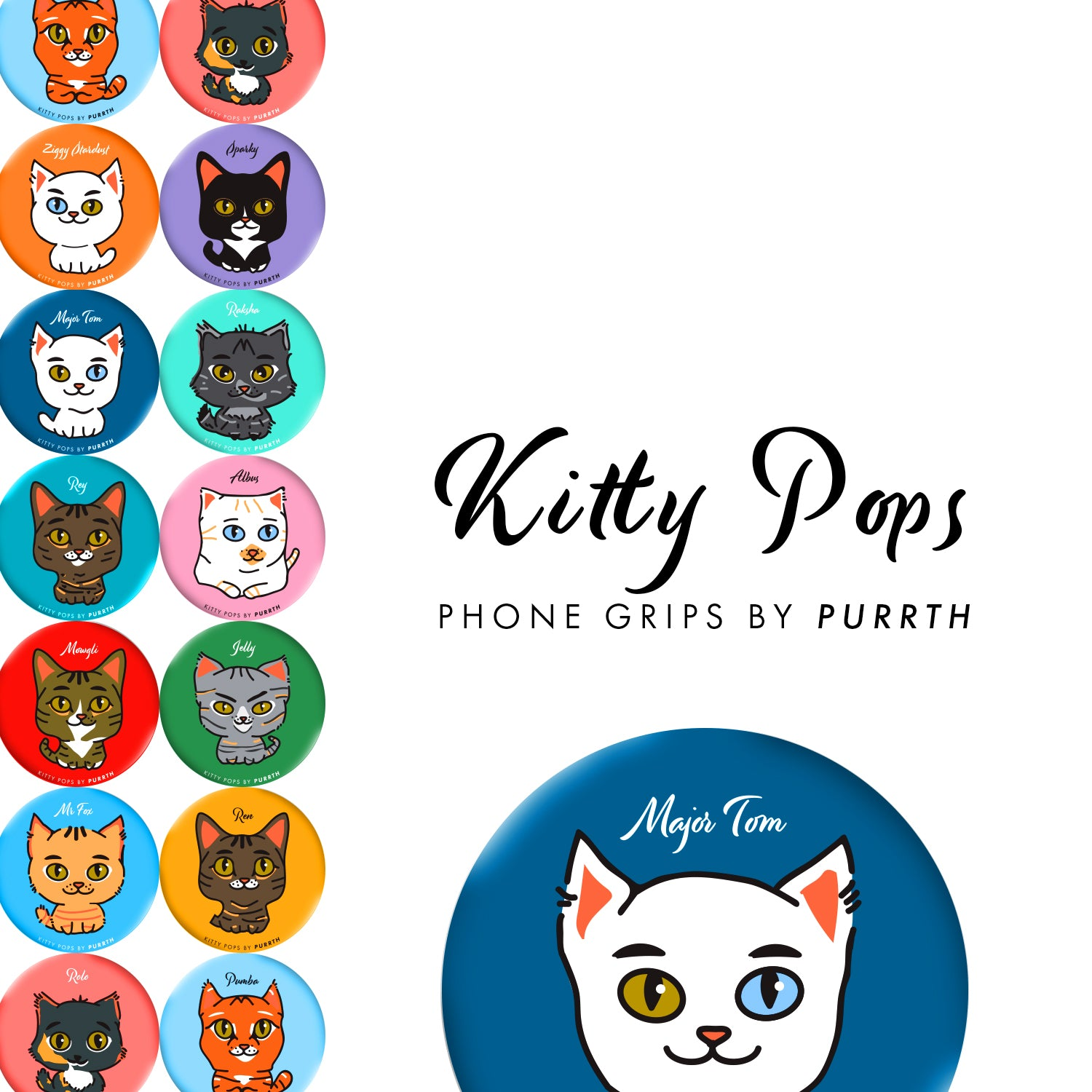 Kitty Pop Phone Grips