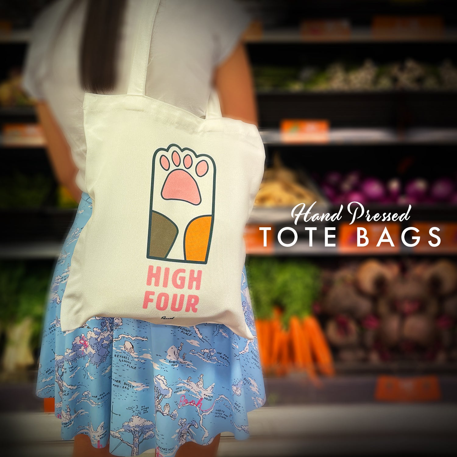 Hand-pressed Tote Bags