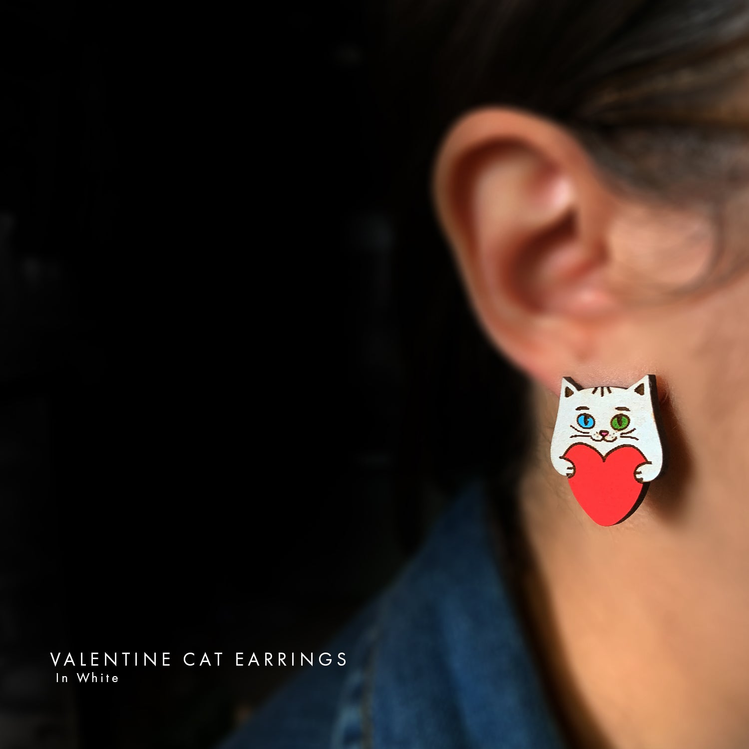 Love & Valentines Cat Glitter
