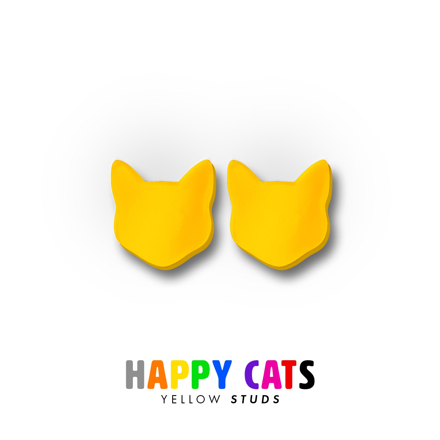 Happy Cats - Stud Earrings