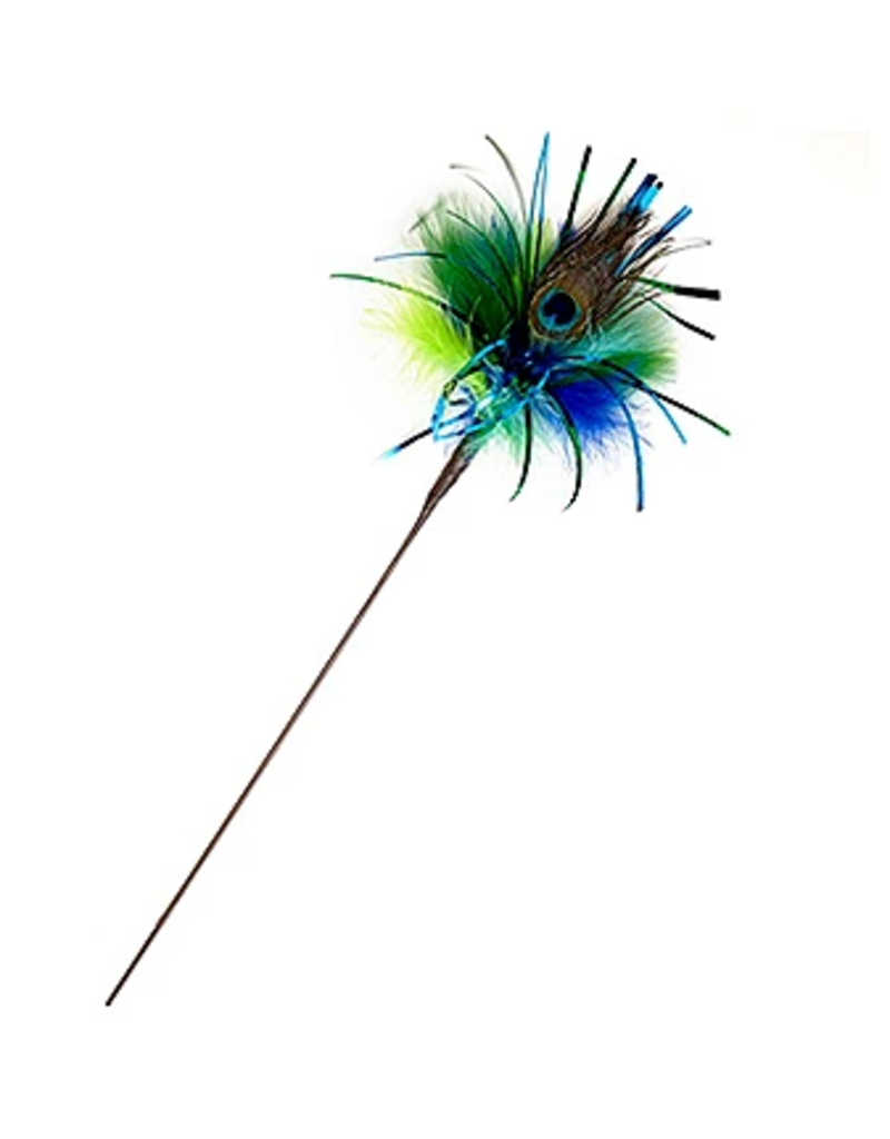 Peacock Sparkler Kitty Duster