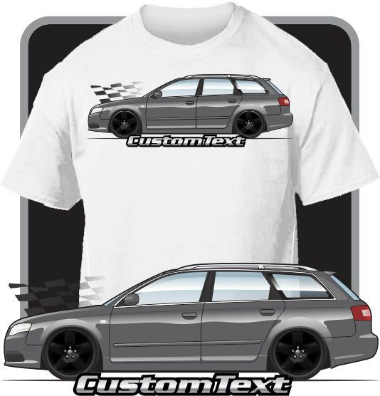 Custom Art T-Shirt 2004 05 06 07 2008 Audi Wagon RS4 quattro avant A4 B7