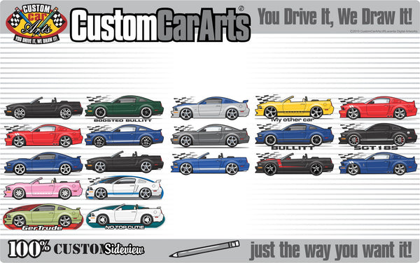 Custom Art T-Shirt inspired on 2004-2009 Ford Mustang GT 5.0 Shelby Cobra Convertible  4.6 L V8 car