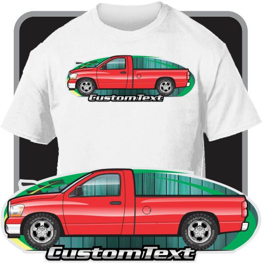Custom Art T-shirt 2006 2007 2008 Dodge Truck Ram 1500 2500 SRT-10 Pickup