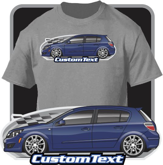 Custom Art T-Shirt 08 2008 09 2009 Saturn Astra XE 5 door Sedan Hatchback turbo