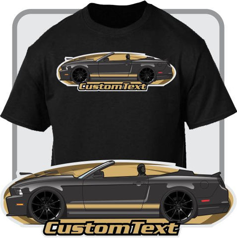 Custom Art T-Shirt 2010 11 12 13 14 2014 Mustang 5.0 GT convertible not affiliated with ford