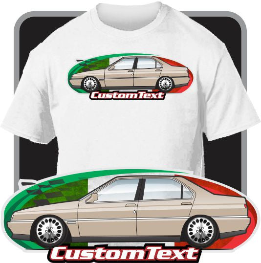 Custom Art T-Shirt  Alfa Romeo 164 Super 3.0 V6 24v 87 91 92 93 94 95 96 97