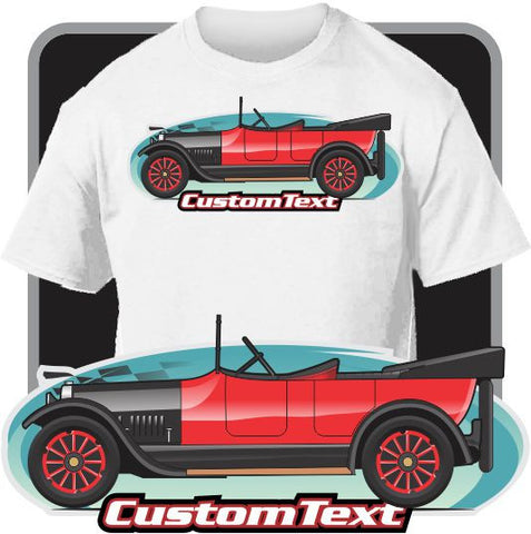 Custom Car Art T-shirt 1916-29 Buick Master Six sedan coupe roadster touring GM-B platform