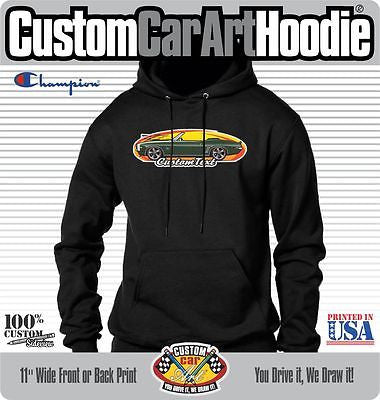 Custom Art Hoodie 69 1969 Chevrolet Chevy Camaro RS SS 396 Convertible COPO Z28