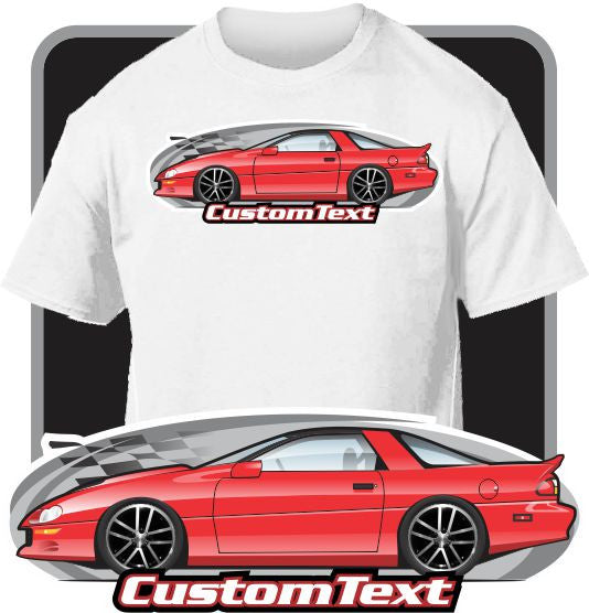 Custom Art T-Shirt for 02 2002 35th Anniversary Chevrolet Camaro Z-28 Z/28 SS LS1