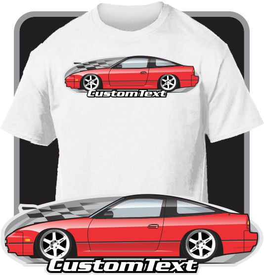 Custom Art T-Shirt Custom Art T-Shirt 89 1989 90 1990 91 1991 92 1992 1993 93 S13 Nissan 240SX 240 sx SE Hatchback hatch jdm drift SR20DET