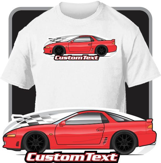 Custom Art T-Shirt 91 1991 1992 1993 Mitsubishi 3000GT SL GTO MR Twin Turbo
