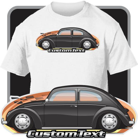 Custom art T-shirt 46 47 48 49 50 51 1952 Volkswagen Type 1 Beetle Split window