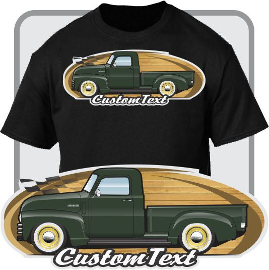 Custom Art T-Shirt 1947 48 49 50 51 52 53 1954 Chevrolet Chevy GMC 3100 3600 3800 Loadmaster Advance Pickup Truck