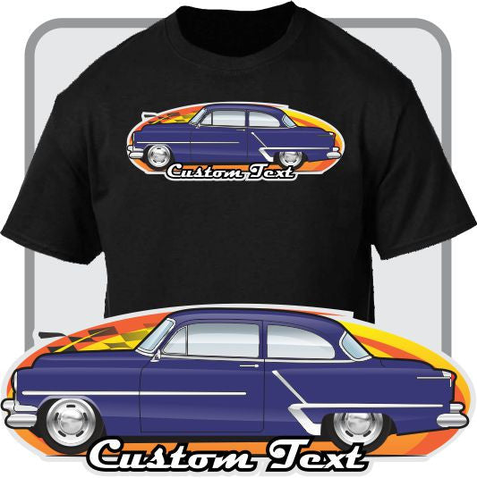 Custom Art T-Shirt 1949 50 51-1953 oldsmobile olds rocket 88 super holiday coupe