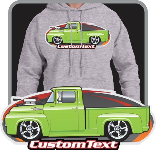 Custom Art Hoodie 56 1956 Mercury M-100 F-100 F100 F-250 Pickup not affiliated with ford Truck