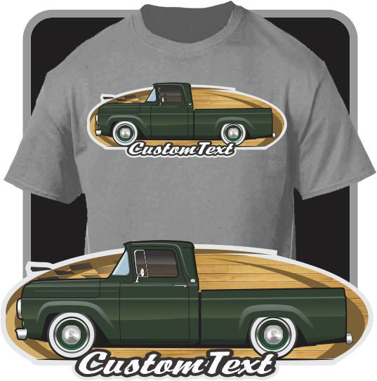 Custom Art T-Shirt 57 1957 58 1958 59 1959 60 1960 Ford F-100 F100 F-250 F-350 StyleSide FlareSide Mercury M-100 Pickup Truck