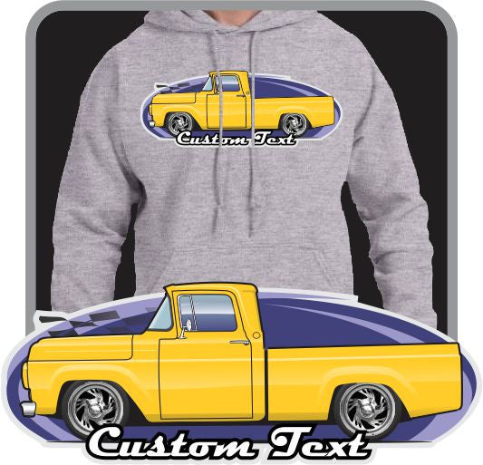 Custom Art Hoodie 1957 58 59 1960 F-100 F100 F-250 Pickup not affiliated with ford truck