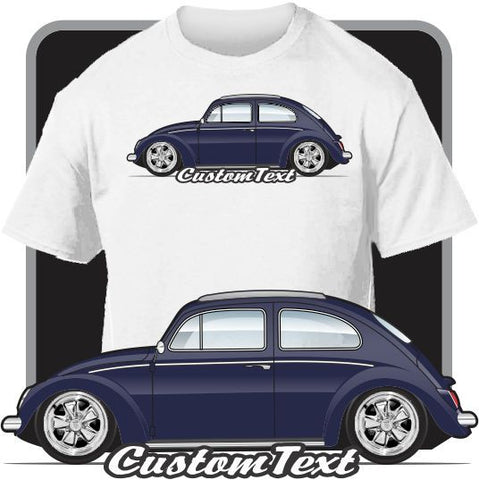 Custom Art T-Shirt  58 59 60 61-64 VW Volkswagen Rag Top Beetle 1200 1300